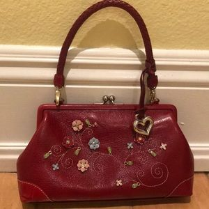 NWOT Brighton Red Clutch With Removable Strap